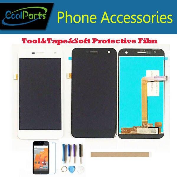 1 pieza/lote para pantalla LCD Wileyfox Spark y digitalizador de pantalla táctil pieza de repuesto Color blanco y negro con Kits