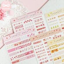 Mr.paper 10 Designs Colorful Japanese Kawaii Deco Strip Stic
