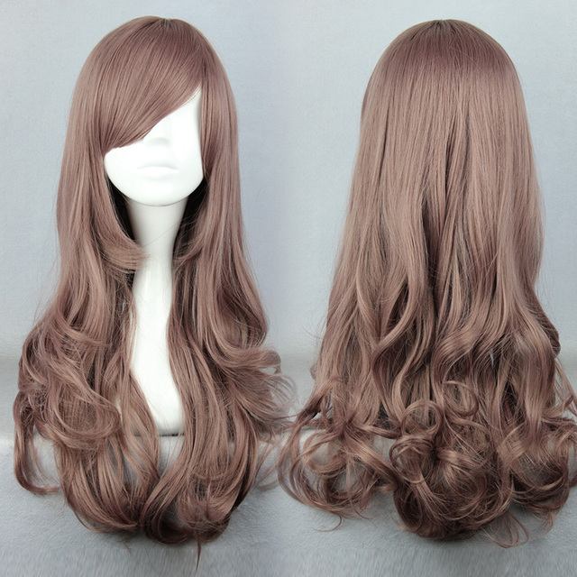 MCOSER Free Shipping 60cm Long Color Mixed Beautiful lolita wig Anime Wig