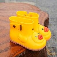 Boys Girls Cartoon Rubber Boots Jelly Warm Shoes Children S Waterproof Shoe Candy Color Rainboots Kids