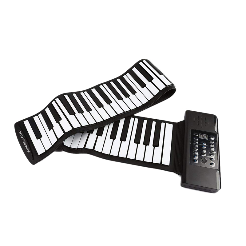 Electric Roll Piano Portable Folding 88 Key Flexible Soft Silicone Electronic Music Keyboard Usb Speaker Us Plug