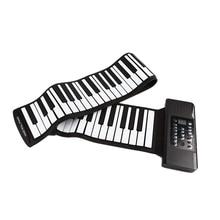 Electric Roll Piano Portable Folding 88 Key Flexible Soft Silicone Electronic Music Keyboard Piano Usb Speaker Us Plug росмэн развивающие карточки тренируем память смурфики