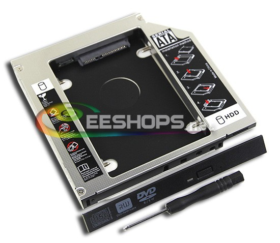 Laptop 2nd HDD SSD Caddy Second Hard Enclosure DVD Optical Drive Bay for HP Compaq Presario CQ57 615 610 EliteBook 6930p Case