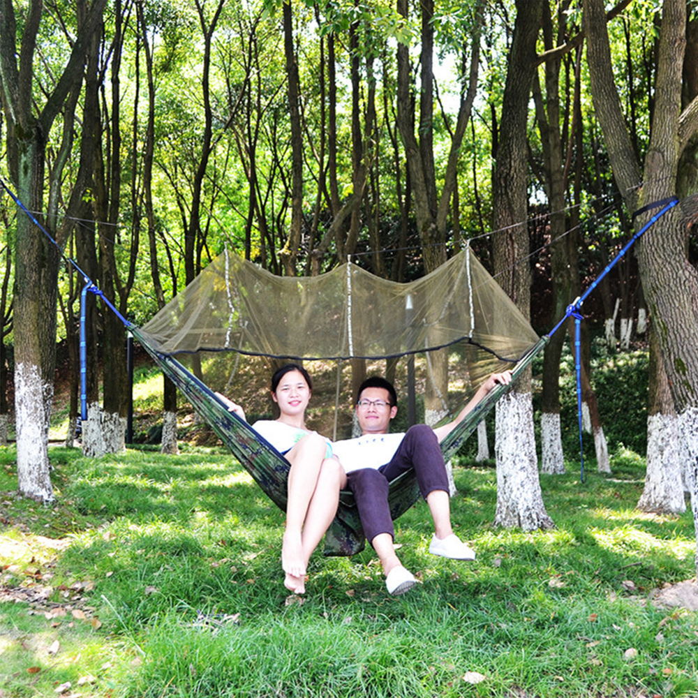 Camping Hammock with Mosquito Net Two-person Outdoor Hammock Tent Ultralight Garden Hanging Hammock Outdoor Furniture недорого