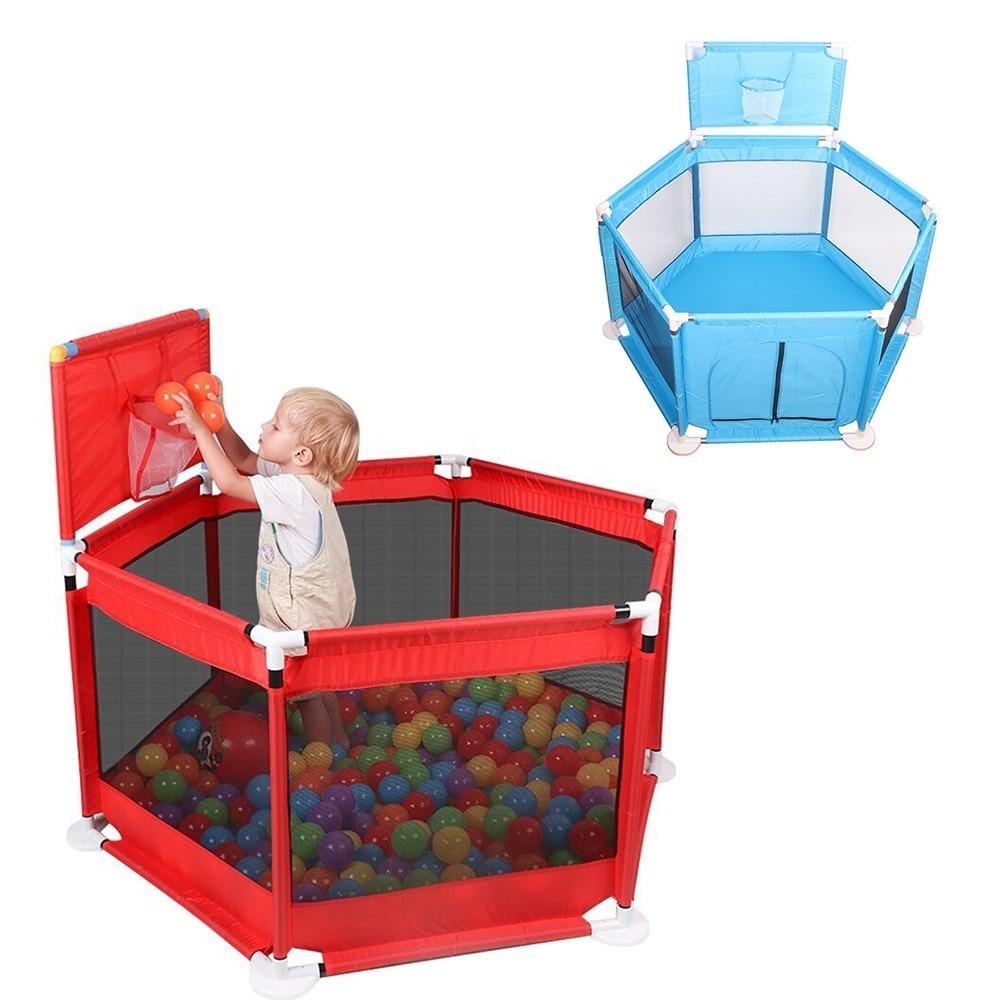 Bébé parc clôture barrière pliante enfants parc enfants jouer stylo Oxford jeu de tissu nourrissons balle bébé escrime aire de jeux jouer cour