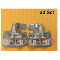 x2 Set FOR BMW X5 E53 WINDOW REGULATOR REPAIR CLIPS with METAL SLIDER FRONT LEFT / RIGHT 2000 2015