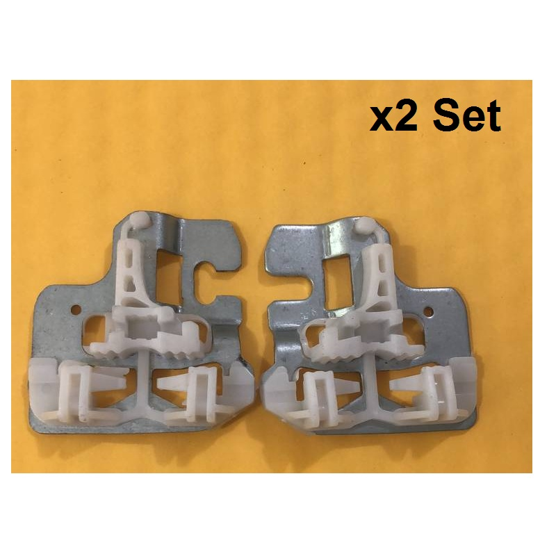 X2 Set FOR BMW X5 E53 WINDOW REGULATOR REPAIR CLIPS With METAL SLIDER FRONT LEFT / RIGHT 2000-2015