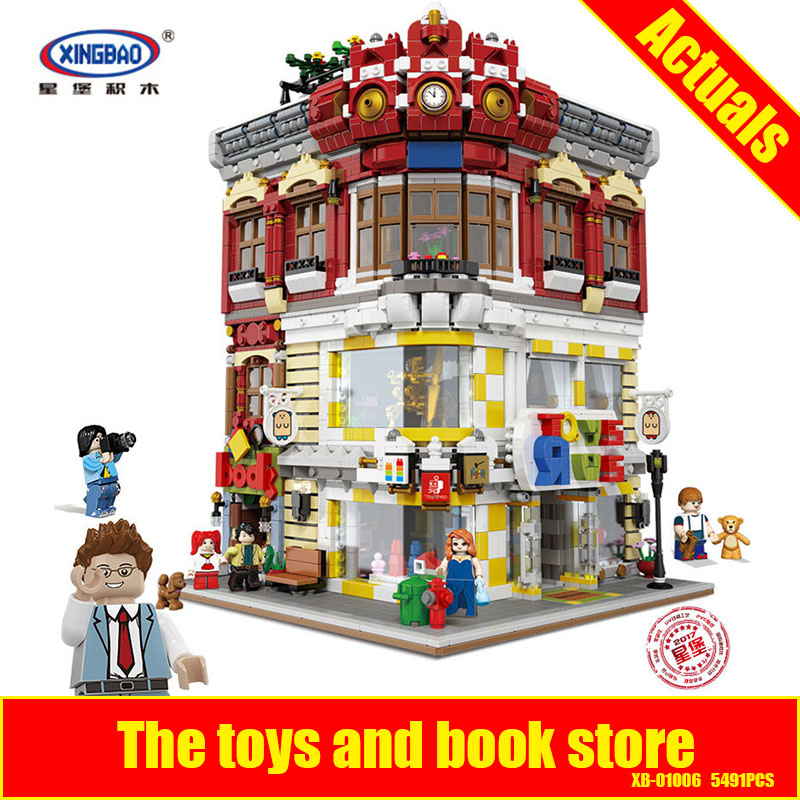 XingBao 01006 Block 5491Pcs Genuine Creative MOC City Series The Toys and Bookstore Set Building Blocks Bricks Toy Model Gift щипцы для наращивания волос loof 50 scale protector shields
