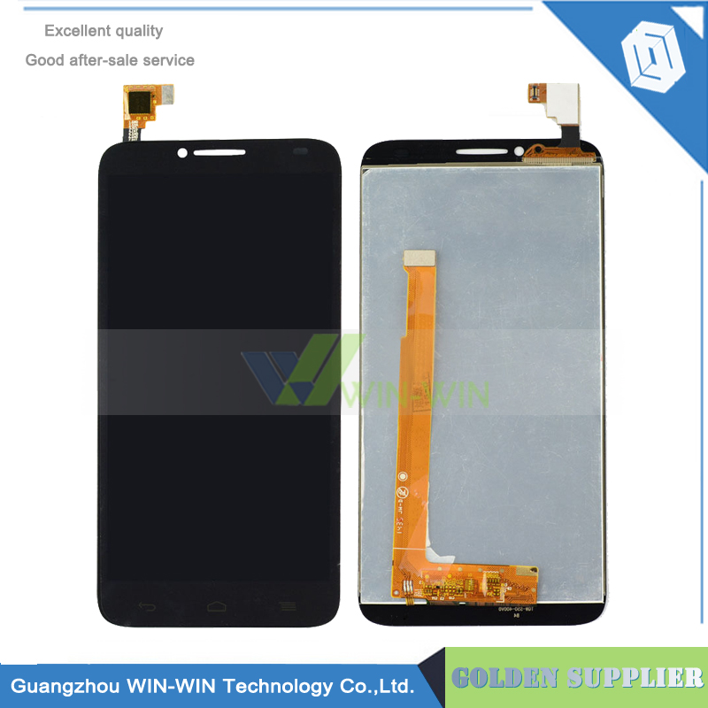 ФОТО White/Black Full LCD display+touch screen digitizer assembly For Alcatel One Touch Idol 2 6037 OT-6037Y OT6037 Free Shipping