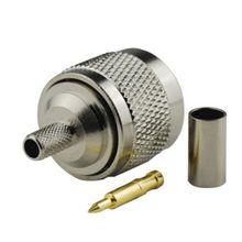 2 шт. n-типа штекер обжимной разъем для RG58 LMR195 RG400 RG142 кабель