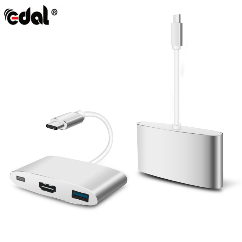USB 3.0 Type C To HDMI Charging Converter USB-C 3.0 12A-2A Adapter Digital AV Multiport Adapter For New MacBook Air Pro Mac