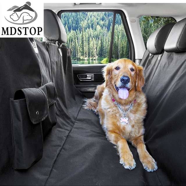 Medium image of mdstop new multi function car pet seat cover with pockets zipper hammock rear back seat