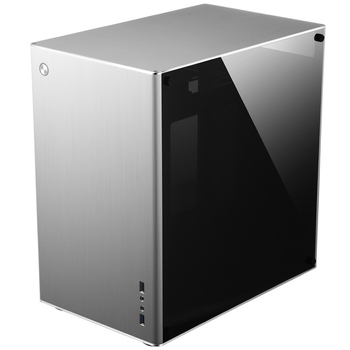 Computer case Jonsbo VR2 Silver aluminum double side glass through multimedia home theater Chassis computer case