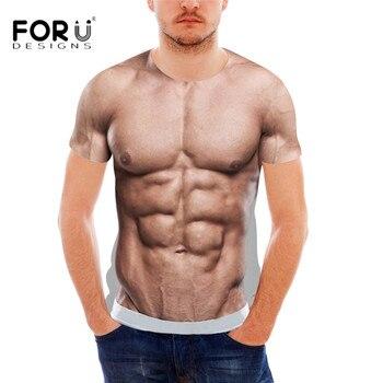 FORUDESIGNS drôle 3D impression musculaire t-shirt pour hommes Designer Crossfit hommes T-Shirt décontracté chemises dété Style à manches courtes hommes Top t-shirt