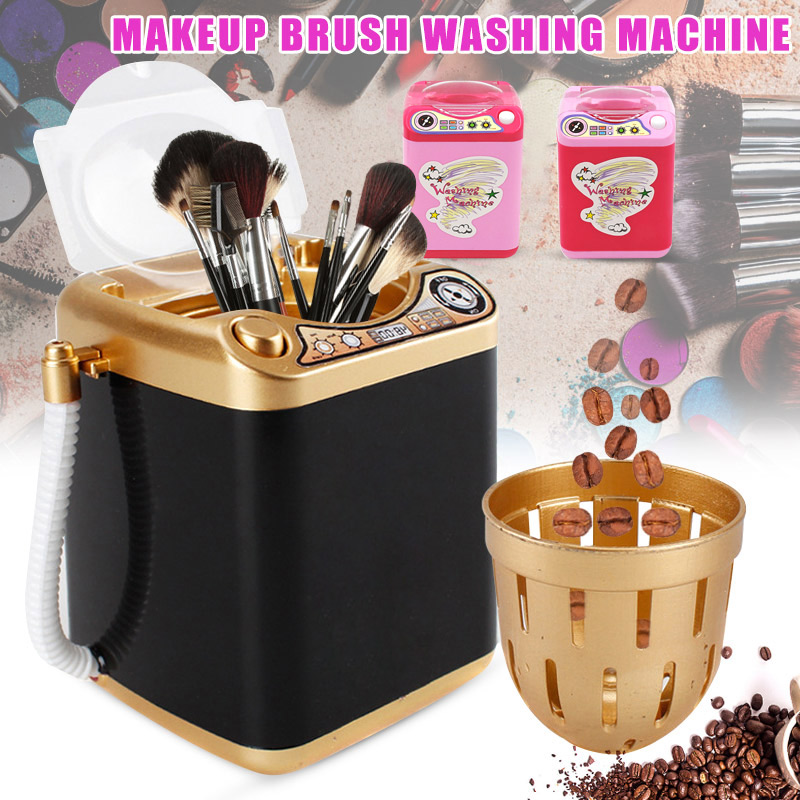 Mini Multifunction Kids Washing Machine Toy Beauty Sponge Brushes Washer Pretend Play Toys 998