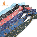 High Quality Men's Tie 6 Cm Skinny Ties Wedding Dress Neckties For Men Paisley Cravate Business Pour Homme Rouge Slim Bowknot