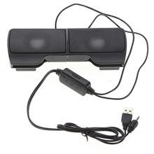 LEORY 1 пара мини портативный Clipon USB стерео колонки линейный контроллер Саундбар для ноутбука тетрадь Mp3 плеер ПК с зажимом