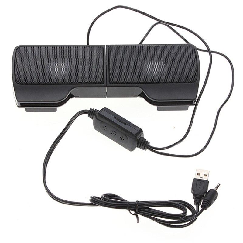 Clipon LEORY 1 Paia Mini Portatile USB Altoparlanti Stereo line Controller Soundbar per il Computer Portatile Notebook Lettore Mp3 PC con la Clip