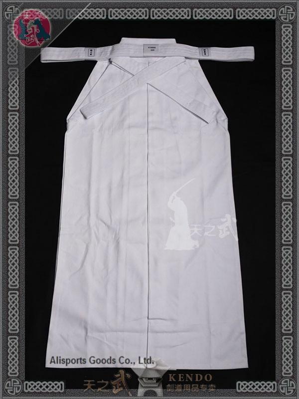 Top Quality 10000# 100% Cotton White Kendo Iaido Aikido Hakama Martial Arts Uniform Sportswear  Dobok Free Shipping