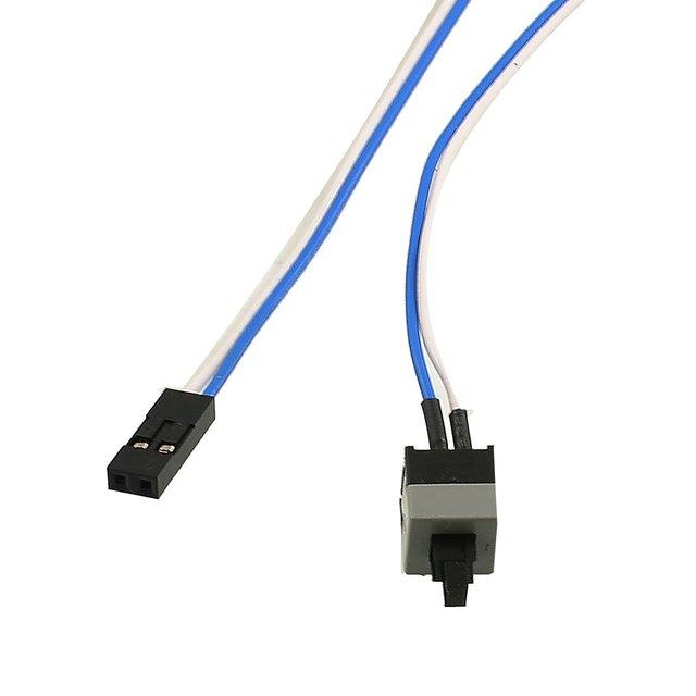 """10 pçs/lote 20.5 """"Long Switches Interruptor De Botão de Energia Cabo para PC Computador Redefinição"""