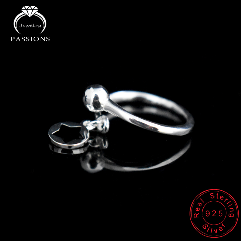 LYNNE Jewelry Fashion 925 Sterling Silver Resizable Rings Round - Fine Jewelry