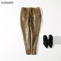 Брюки для женщин из искусственной кожи джинсы коричневые кожаные попы кожа узкие кожаные узкие джинсы
