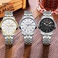 LONGBO Luxury Brand Lovers Watches Men Dress Stainless Steel Clock Women Quartz Wrist Watch Female Calendar Couple Relogio 5006