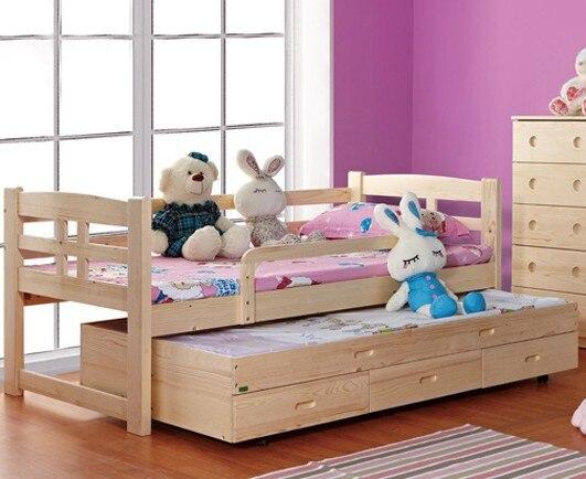 Bajo nivel de persona ropa de cama cuidado de niños cama con cajones ...