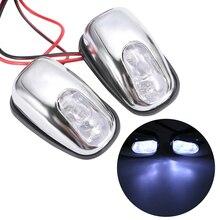 1 paar Auto Weiß LED Licht Windschutzscheibe Windschutz Jet Spray Düse Wiper Washer Lampe Zubehör 12 V