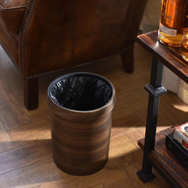 New Vintage Durable Creative Waste Bins Waterproof Practical Trash Can Home Office Living Room Bedroom Bathroom