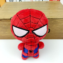 NEW 10CM Spiderman Plush Stuffed TOY , String pendant rope plush DOLL toys ; decor Gift TOY BAG Pendant TOY