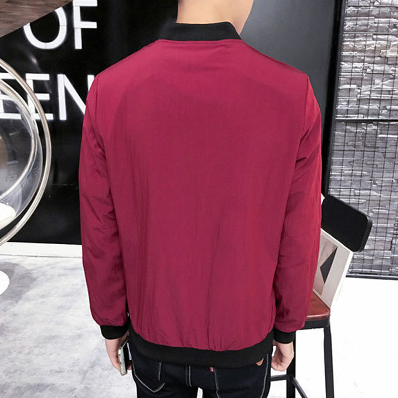 Men Jacket Coat Long Sleeve Zipper Fashion Slim Autumn Sportwear Man Jack Short Coat FS99