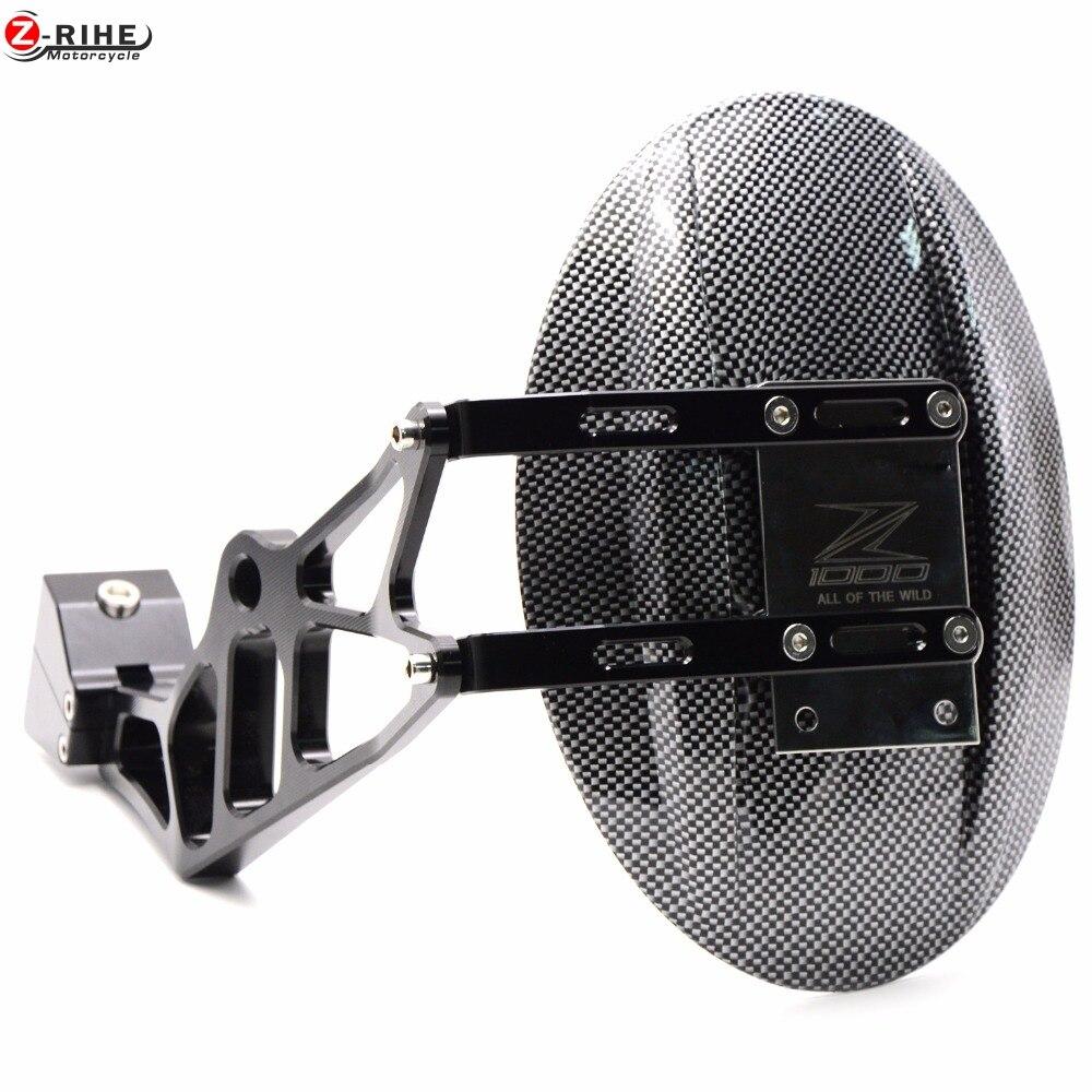 For Kawasaki 1000 CNC Aluminum Rear Wheel Tire Fender Mudguard Block For Kawasaki Z1000 Z1000SX 2010-2016 Motorcycle Rear Fender