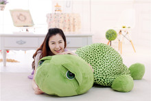largest 150cm cartoon tortoise plush toy green turtle doll soft hug toy sleeping pillow .birthday gift c213