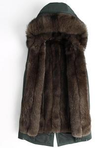 Winter Jacket Genuine-Leather Parka Hooded Men's Liner Fur Coat One-Warmer Grass-Lining