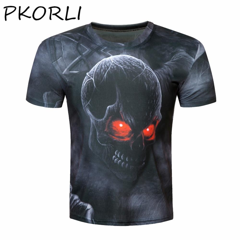 2017 Novelty 3d T Shirt Men Skull T-Shirt Fashion Summer Unisexmen'S T-Shirts Cool Slim Tops Tee Plus Size M-4XL