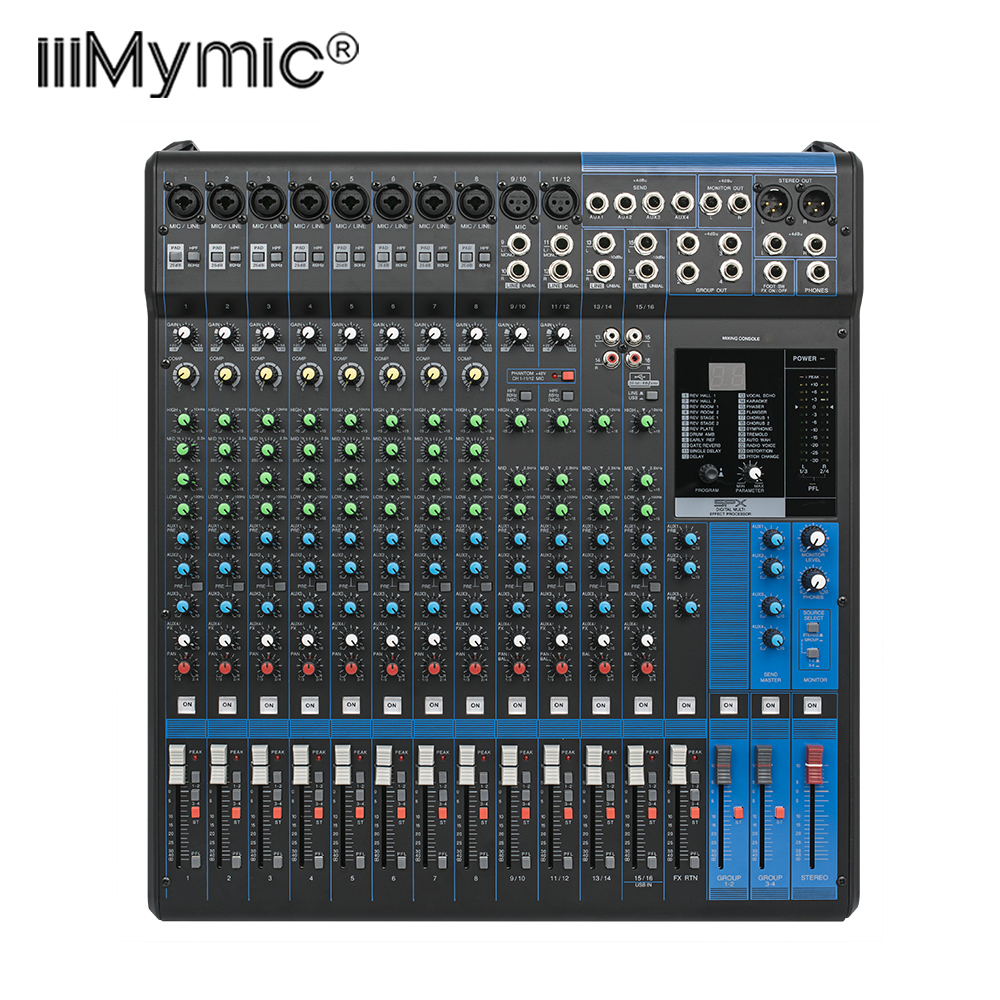 professional 16xu audio mixer 16 channel input and usb interface analog mixer with compression. Black Bedroom Furniture Sets. Home Design Ideas