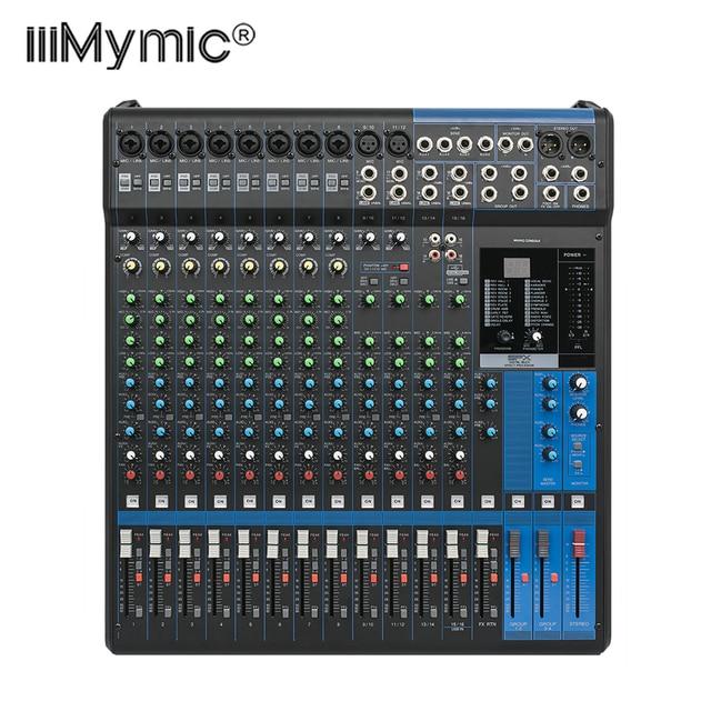 Professionnel 16XU Audio De Mixage 16 Canaux D'entrée et Interface USB table de Mixage Analogique Avec Compression et Effets LN pour L'étape DJ