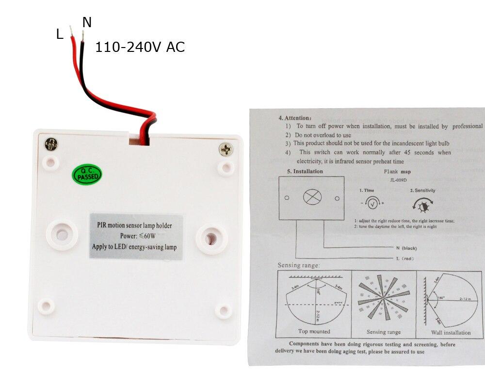 Detail Feedback Questions about Motion Sensor 220V 110V AC