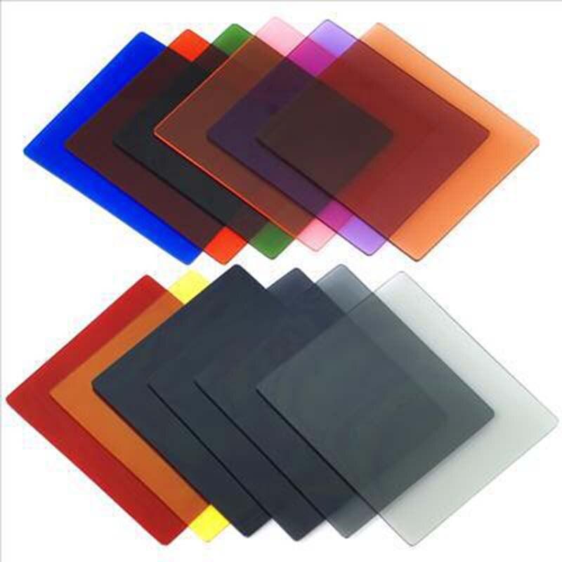 Полный квадратный набор фильтров градиентный полный ND красный зеленый синий розовый фиолетовый для Cokin P серии+ держатель фильтра+ бленда объектива