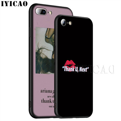 IYICAO Thank U Next Ariana Grande Soft Silicone Phone Case for iPhone XR X XS Max 6 6S 7 8 Plus 5 5S SE TPU Black Cover Lahore