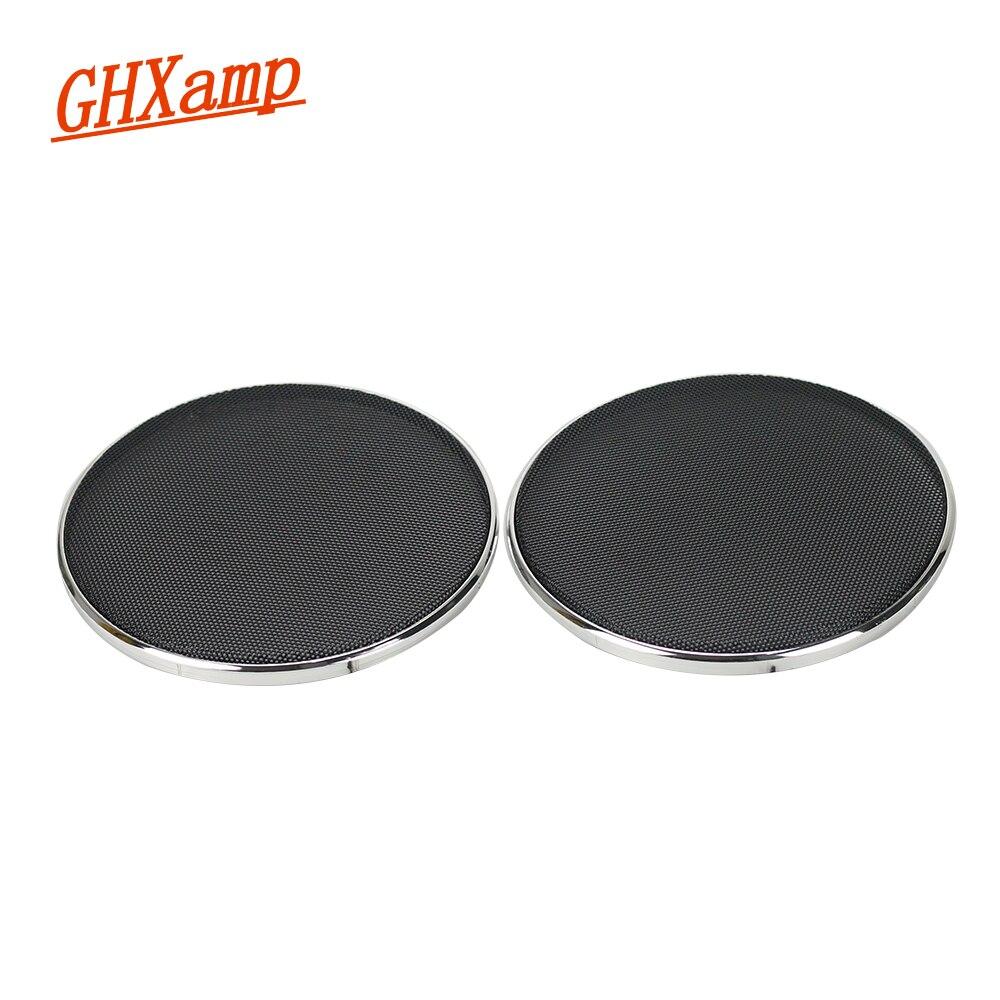 GHXAMP 2PCS 6.5 인치 자동차 스피커 TREBLE 인터넷 보호 커버 스피커 그릴 메쉬 인클로저 장식 링