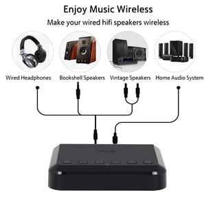 Image 2 - Agosto wr320 wi fi bluetooth receptor de áudio sem fio música adaptador óptico para airplay spotify dlna nas fluxo de som multiroom
