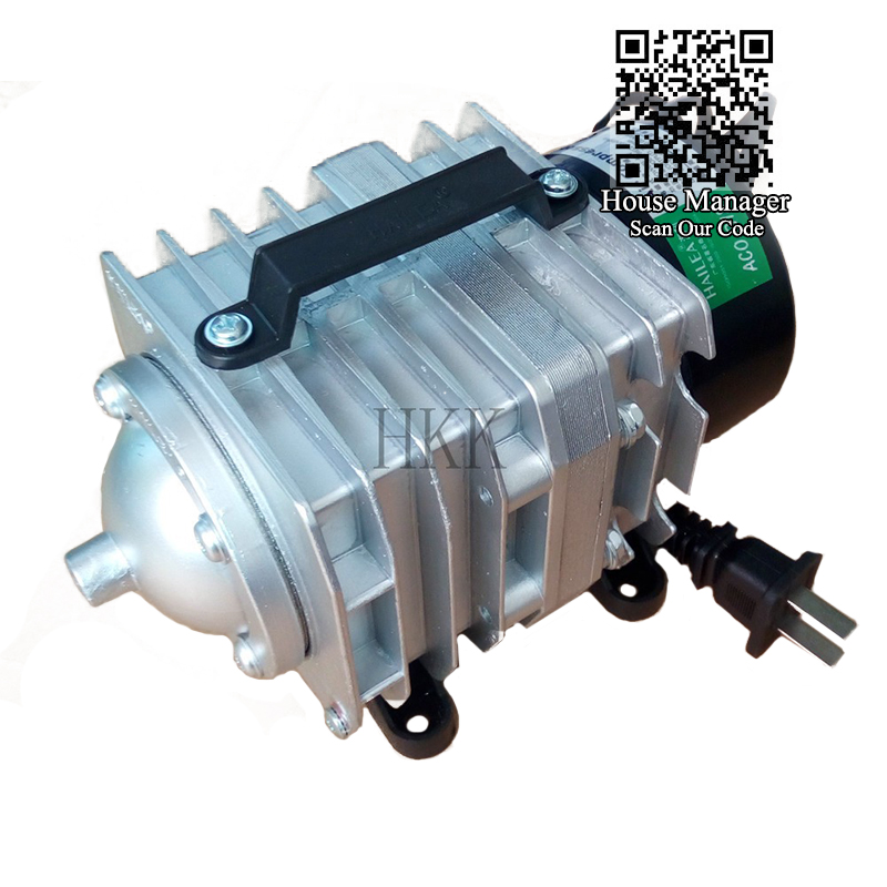 Air Compressor Very High Power <font><b>25</b></font>/30/35W Electromagnetic,Oxygen Aerator Outdoor for Fish Pond Pool Garden Seafood Shop AQUA Show image
