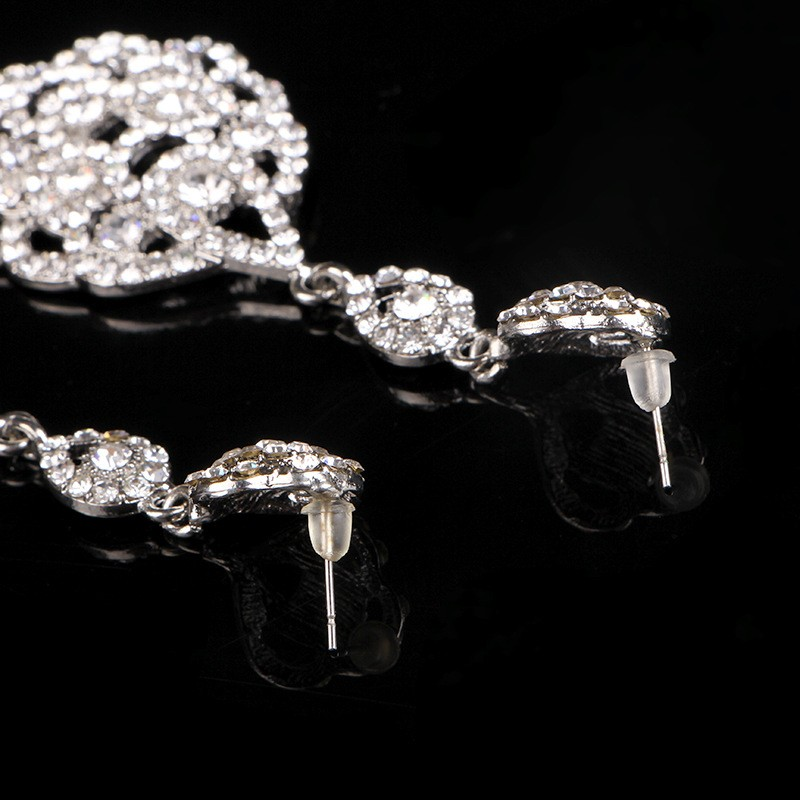 925 sterling silver vintage long earrings for women 585 gold plated Austrian crystal jewelry brincos de festa wedding bridal accessories gifts HB025 (3)