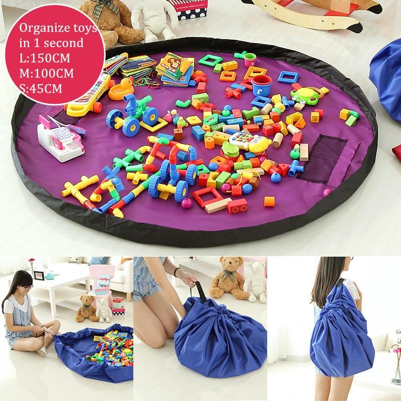 Портативний діти дитини граючи мат багатофункціональний Playmat іграшки сумка для зберігання організатор для сім'ї пікнік автомобіль грати килимки 45/100/150 см  t