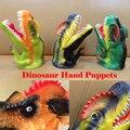 Fantoches de mão criança Dinossauro Modelo de dinossauro Prehistoric Borracha Simulação Figura de Jurassic Park Tiranossauro Rex Brinquedos Interativos