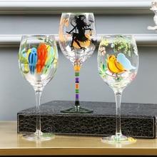 Ручная роспись бокал для вина чашка для шампанского флейта стеклянные Хрустальные чашки рюмки для водки чашки для бара отеля вечерние посуда для напитков домашний декор