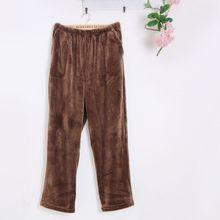 Winter Flannel warm sleep bottoms Mens thicken pajamas trousers lounge loose sleepwear Men Pajama Pants Comfortable Homewear 122