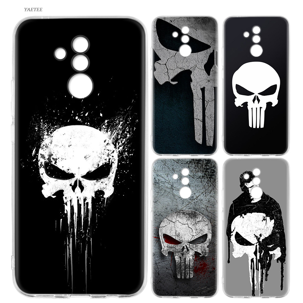 Silicone Back Case For <font><b>Huawei</b></font> P20 P30 <font><b>P10</b></font> <font><b>lite</b></font> Pro Mate 20 10 Pro <font><b>lite</b></font> P Smart Plus + 2019 Nova 4 <font><b>Cover</b></font> <font><b>Marvel</b></font> Punisher image
